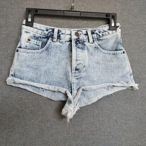 Topshop Moto High Rise Short Shorts W 25